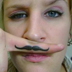 Moustache Finger