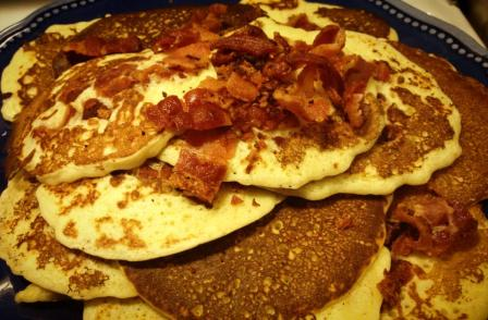 Bacon Pancake served