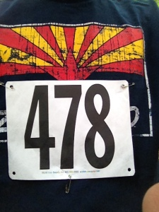 Pizza race number